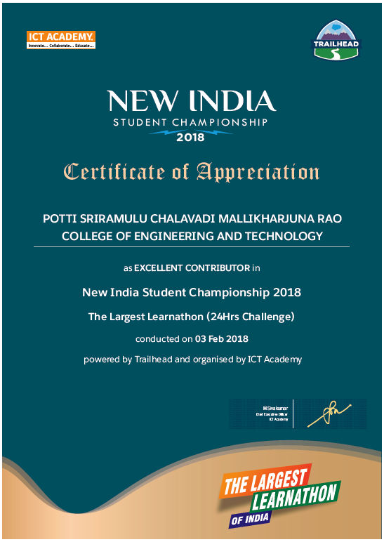 India's Largest Learnathon Excellent Contributor Award